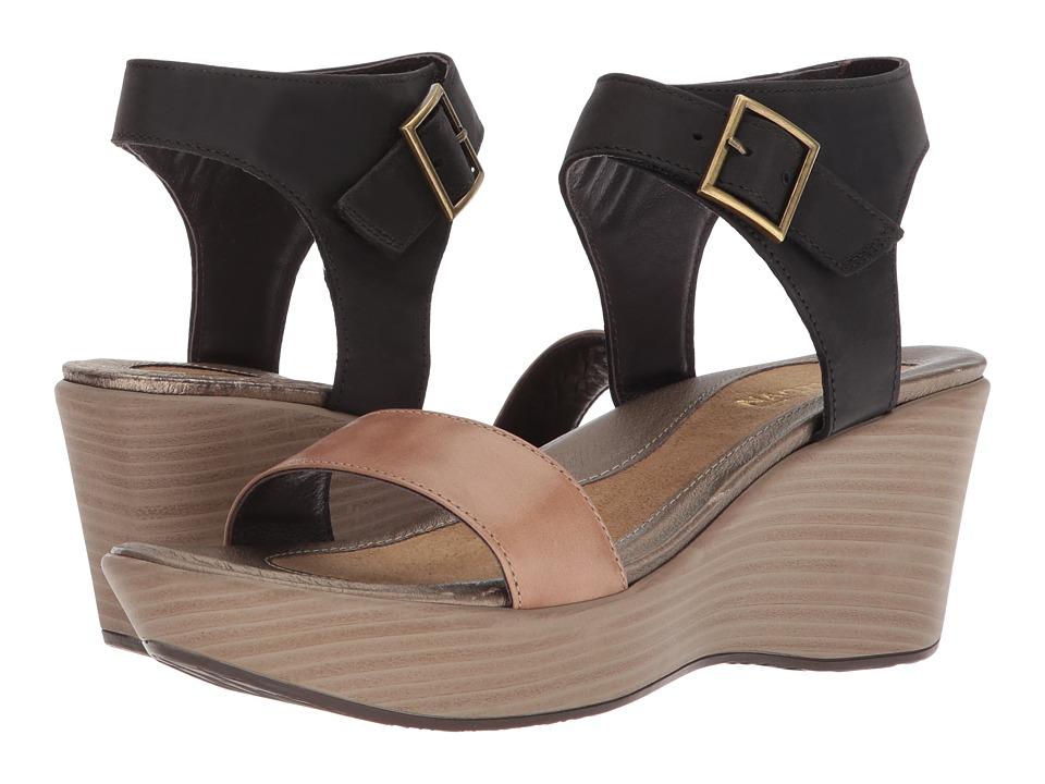 Naot Caprice (Arizona Tan Leather/Oily Coal Nubuck) Women's Shoes