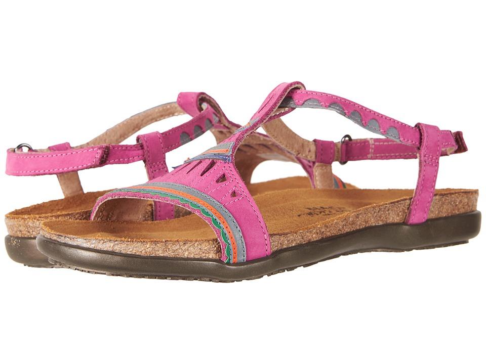 Naot Odelia (Pink Plum Nubuck/Vintage Slate Leather) Women's Shoes