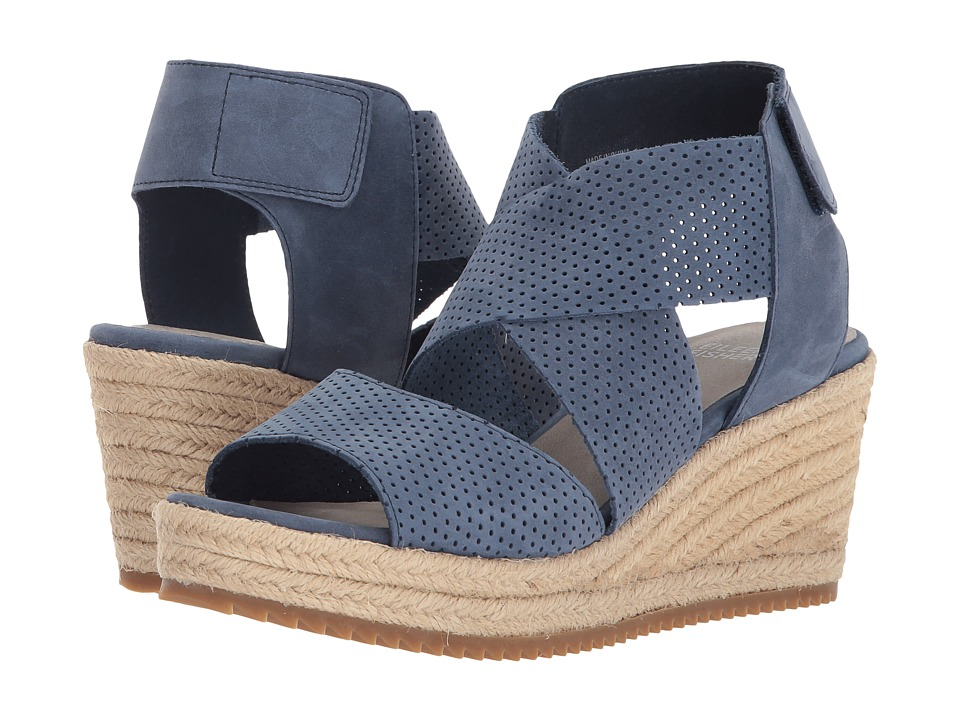 Eileen Fisher Willow 2 (Denim Nubuck) Wedges