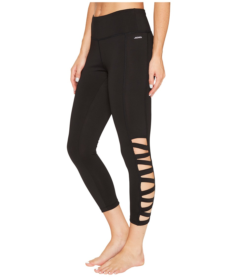 Jockey Active Banded Capris (Deep Black) Women