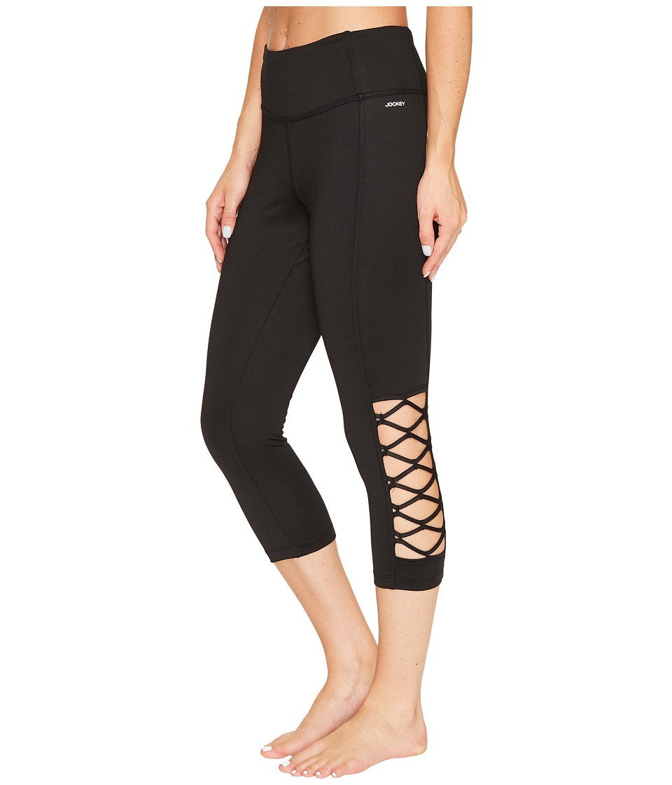 Jockey Active Zephyr Capris (Deep Black) Women