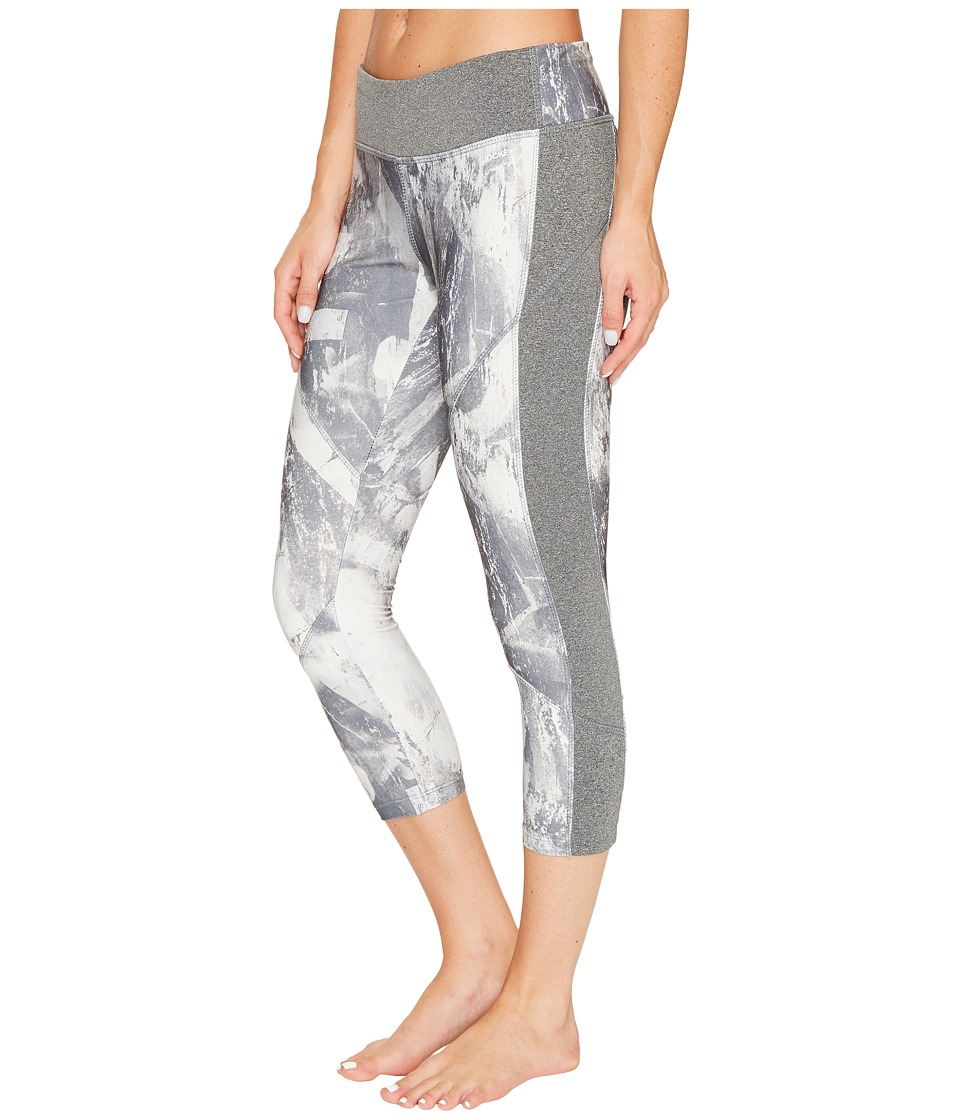 Jockey Active Graffiti Granite Capris (Medium Grey Combo) Women