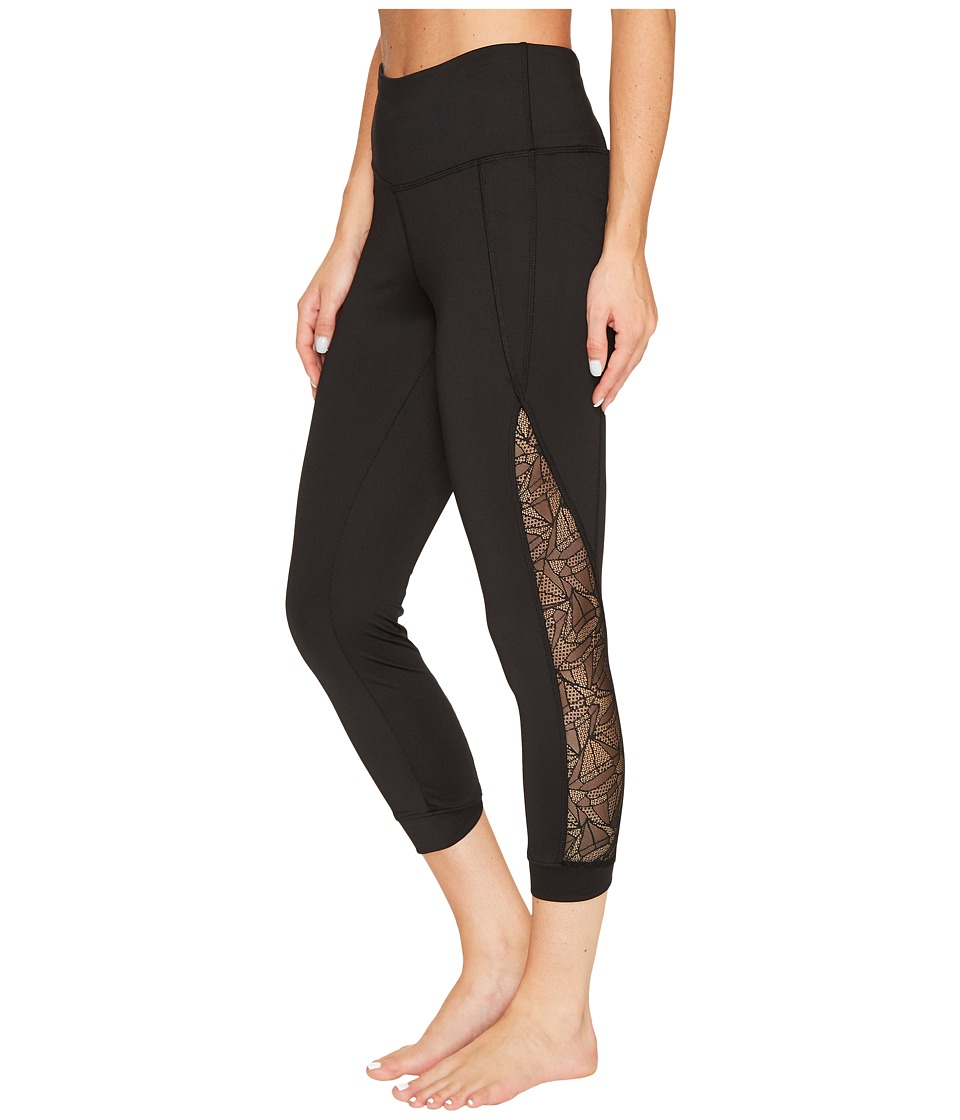 Jockey Active Lacey Mesh Capris (Deep Black) Women