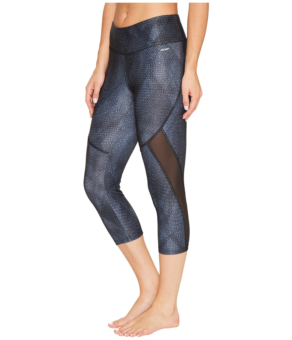 Jockey Active Illusion Capris (Deep Black) Women
