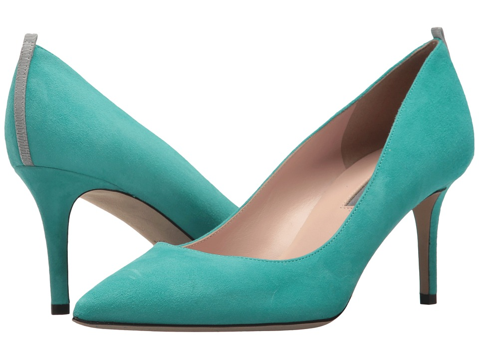 SJP by Sarah Jessica Parker Fawn 70mm (Mint Chip Suede) Women