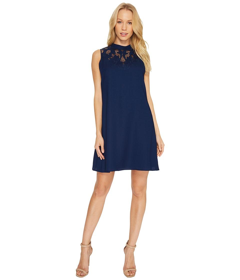 CeCe Ava Sleeveless Embroidered A-Line Dress (Midnight Bloom) Women