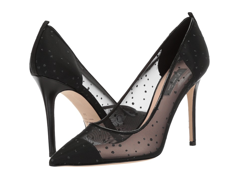 SJP by Sarah Jessica Parker - Glass (Black Ivey Mesh) Womens Shoes