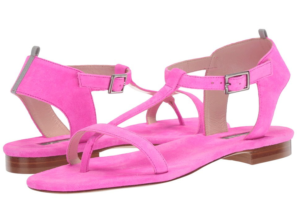 SJP by Sarah Jessica Parker - Veronika (Candy Pink Fluo Suede) Womens Flat Shoes