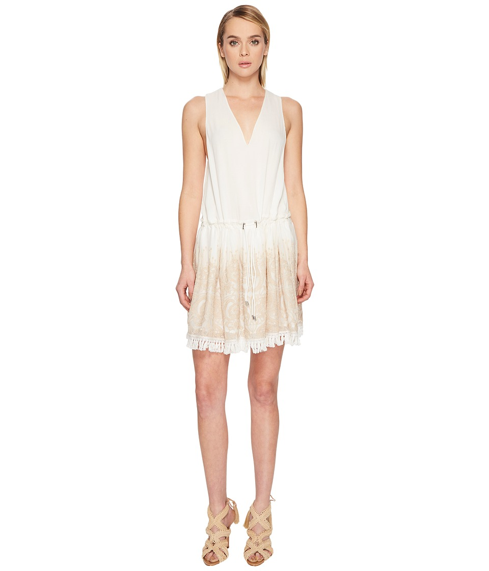 Jonathan Simkhai Embroidered Silk Crinkle Mini Dress Cover-Up (Ivory) Women