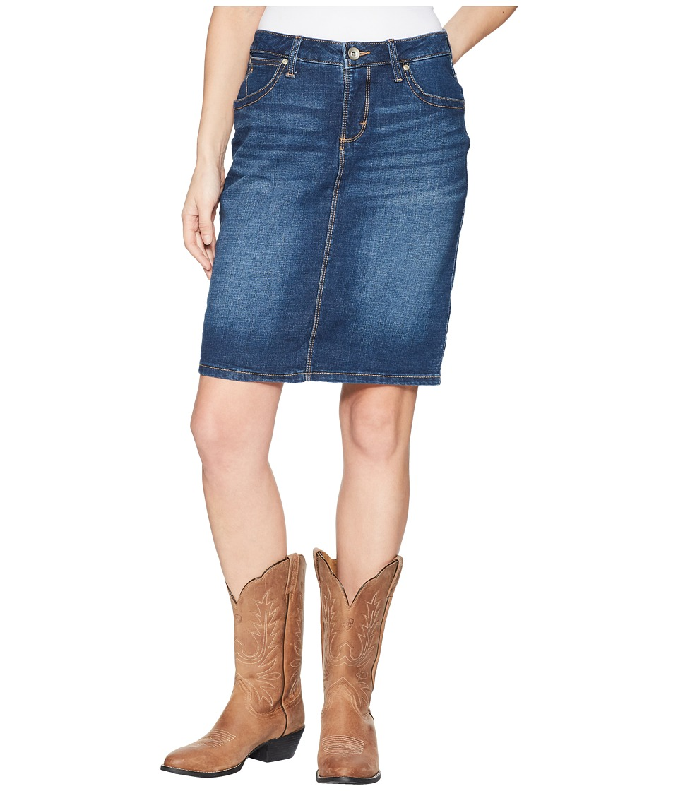 Wrangler Western Aura Skirt (Medium Blue) Women