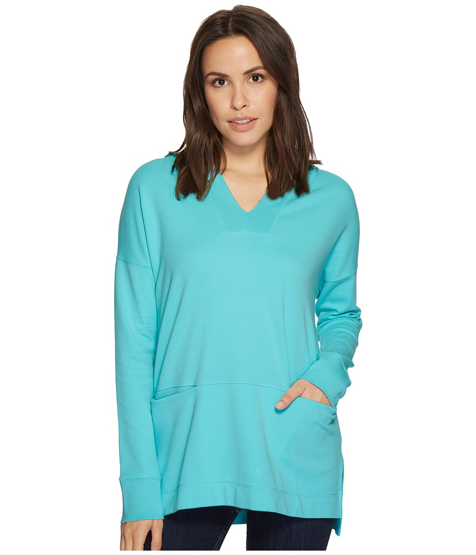 Mod-o-doc Soft as Cashmere Knit Boxy Pullover Hoodie (Big Surf) Women