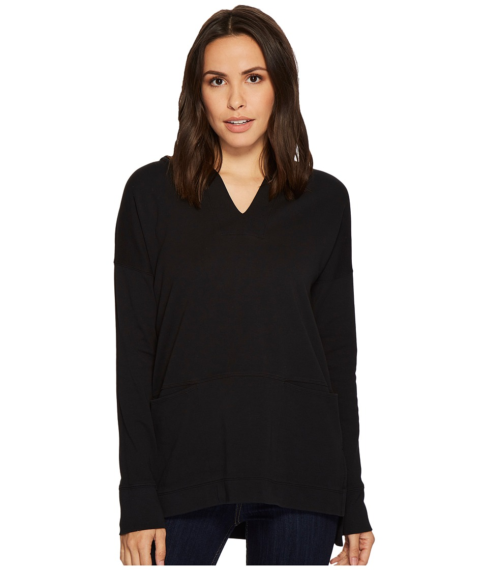 Mod-o-doc Soft as Cashmere Knit Boxy Pullover Hoodie (Black) Women