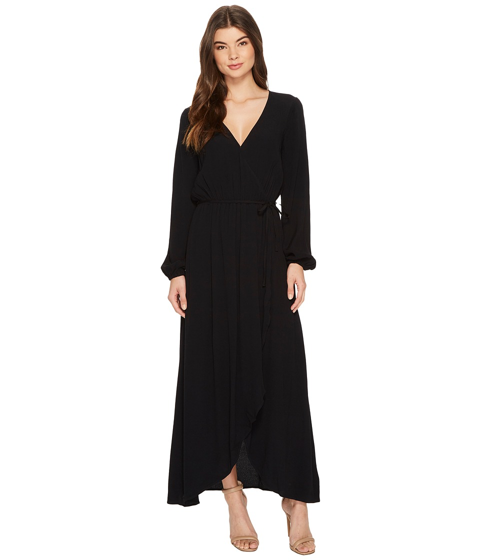 Splendid Wrap Dress (Black) Women