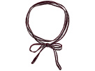 Chan Luu 42' Viscose Chiffon Solid Necklace or Bracelet with Beaded Trim