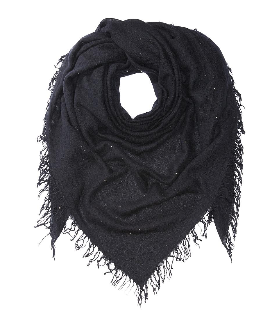 Chan Luu - Scattered Sequin Scarf (Black) Scarves