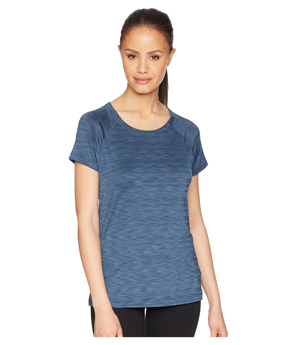 Mountain Hardwear - Mighty Stripe Short Sleeve Shirt (Zinc) Womens Short Sleeve Pullover
