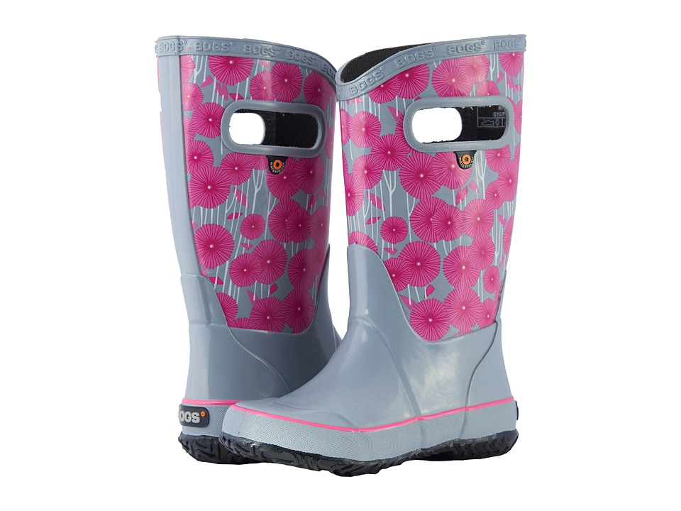 Image of Bogs Kids - Rain Boot Aster (Toddler/Little Kid/Big Kid) (Gray Multi) Girls Shoes