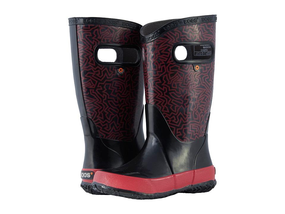 Bogs Kids - Rain Boot Maze (Toddler/Little Kid/Big Kid) (Black Multi) Boys Shoes