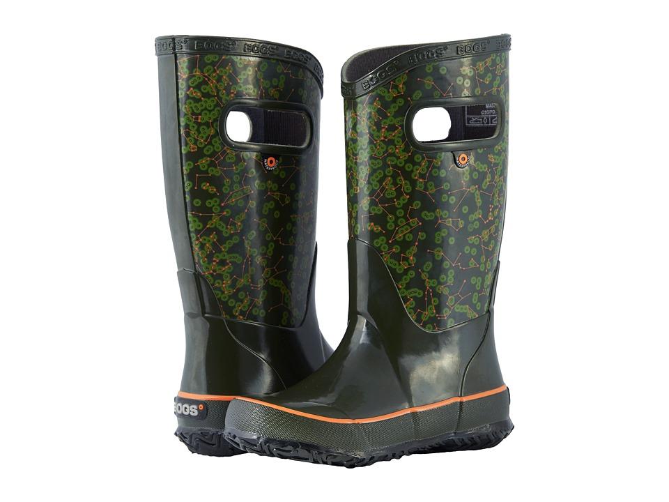 Bogs Kids - Rain Boot Constellations (Toddler/Little Kid/Big Kid) (Dark Green Multi) Kids Shoes