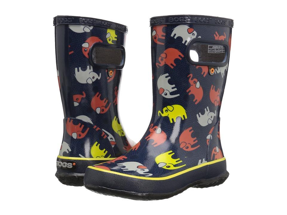 Bogs Kids - Skipper Elephants (Toddler/Little Kid) (Dark Blue Multi) Girls Shoes