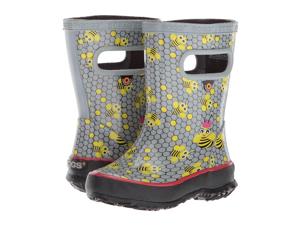 Bogs Kids - Skipper Bees (Toddler/Little Kid) (Gray Multi) Girls Shoes