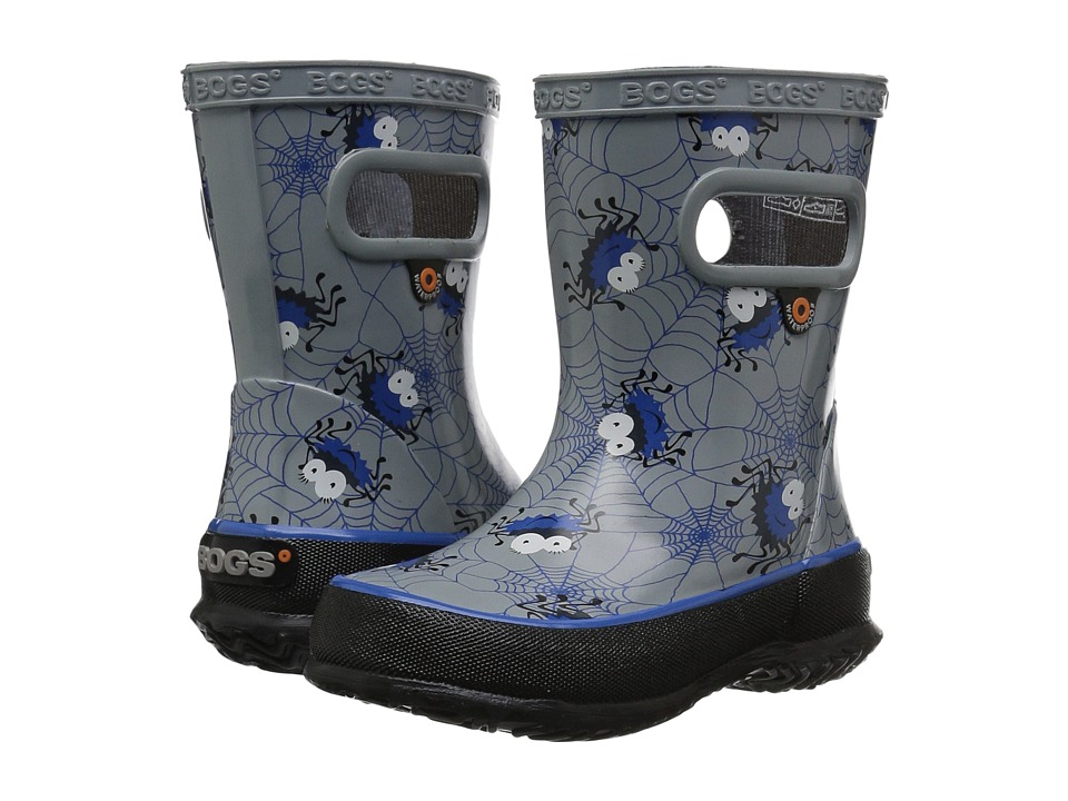 Bogs Kids - Skipper Smiley Spiders (Toddler/Little Kid) (Gray Multi) Boys Shoes