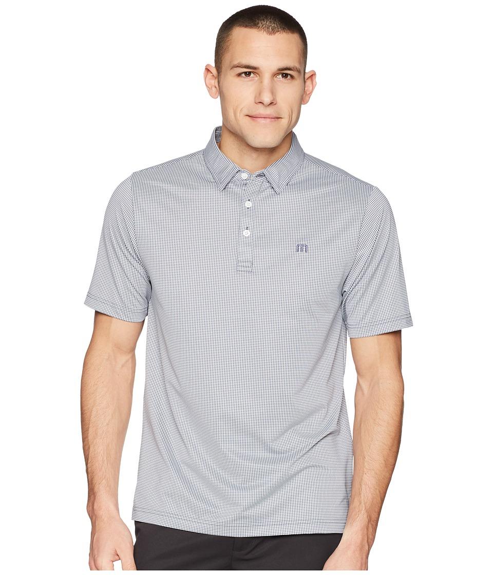 TravisMathew - Zim Polo (White/Grisaille) Mens Clothing