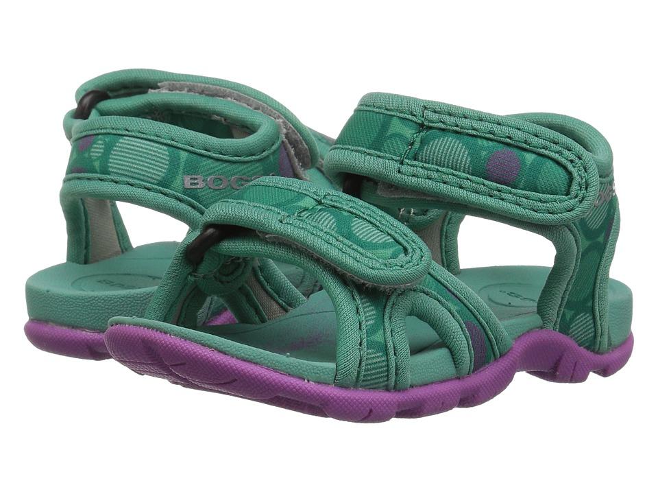 Bogs Kids - Whitefish Multi Dot (Toddler) (Turquoise Multi) Girls Shoes