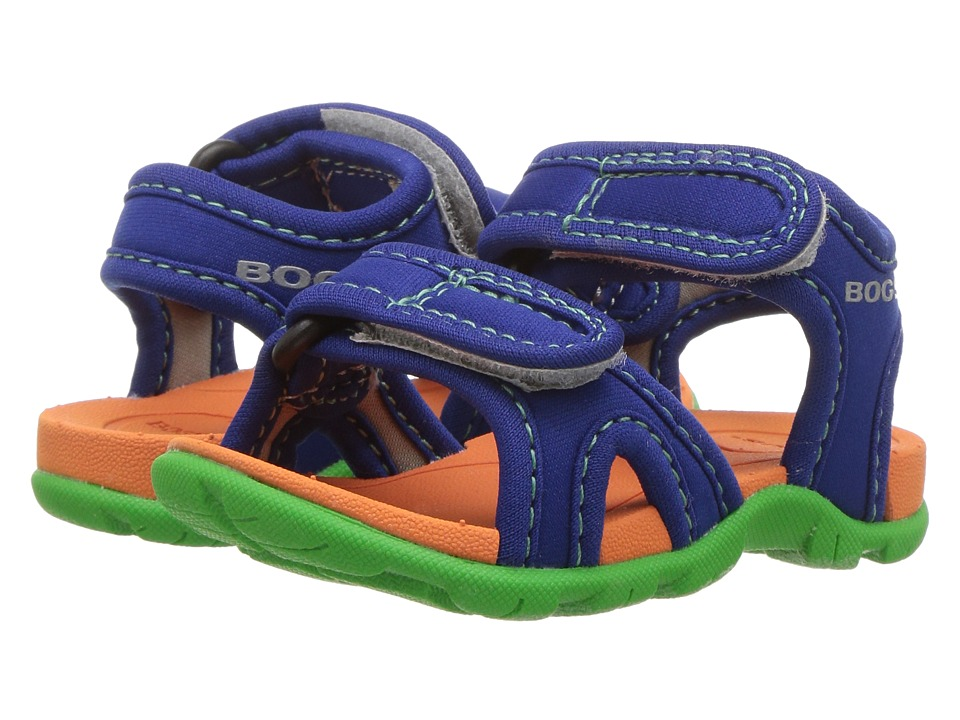 Bogs Kids - Whitefish Solid (Toddler) (Blue Multi) Boys Shoes