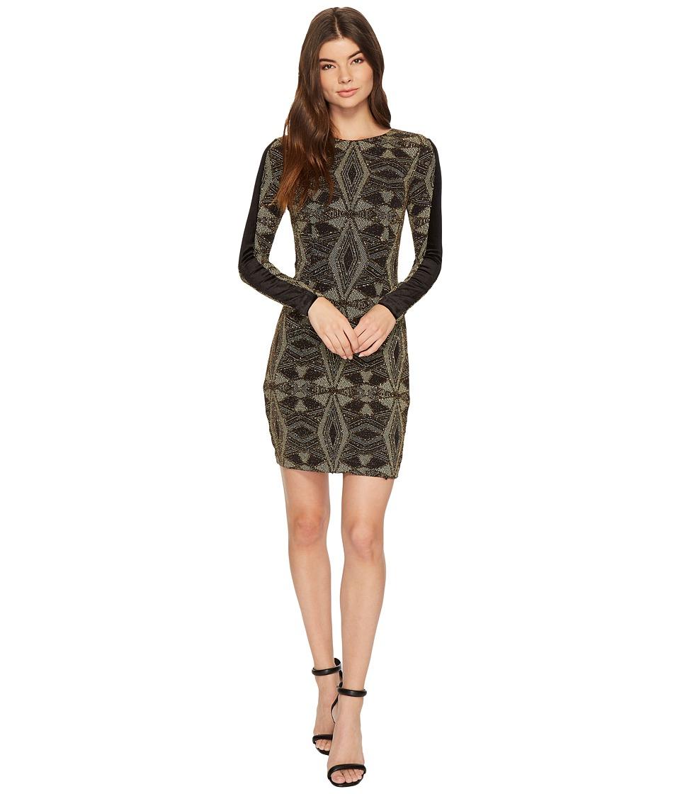 Aidan Mattox - Geo Metallic Knit Dress