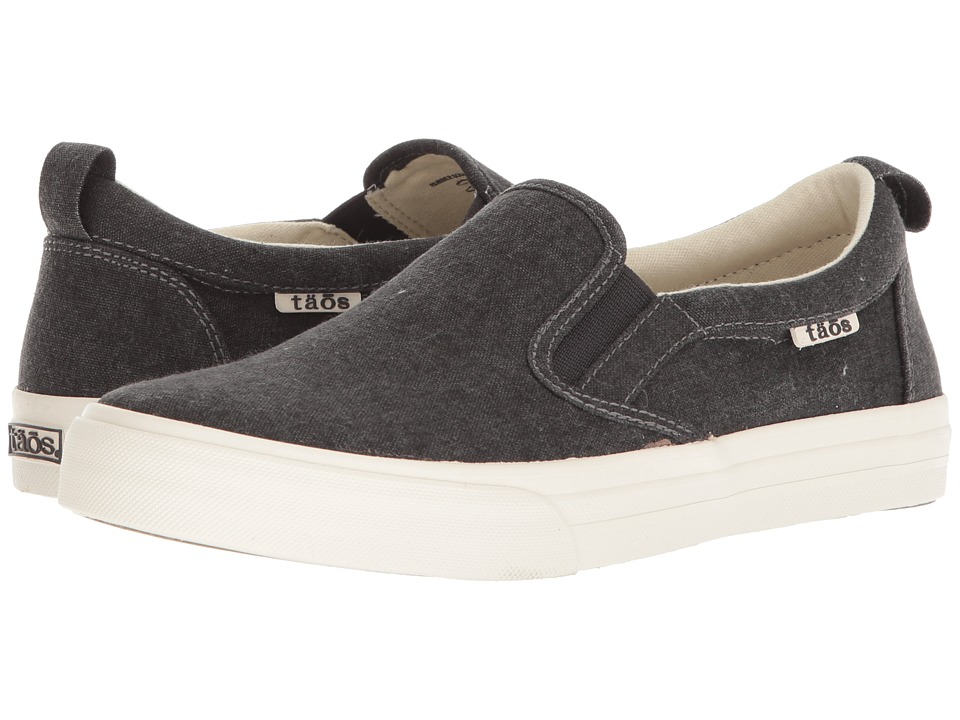 Taos Footwear Rubber Soul (Charcoal Wash Canvas) Slip-On Shoes