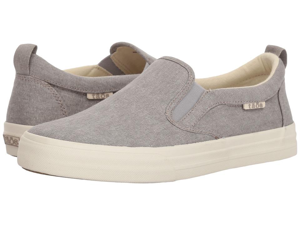 Taos Footwear Rubber Soul (Grey Wash Canvas) Slip-On Shoes