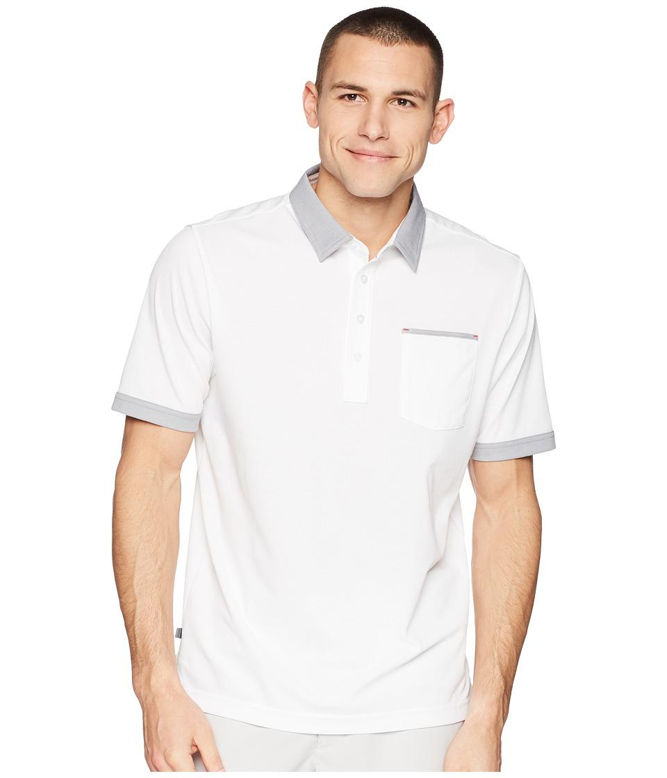 TravisMathew - K-Lew Polo (White) Mens Clothing