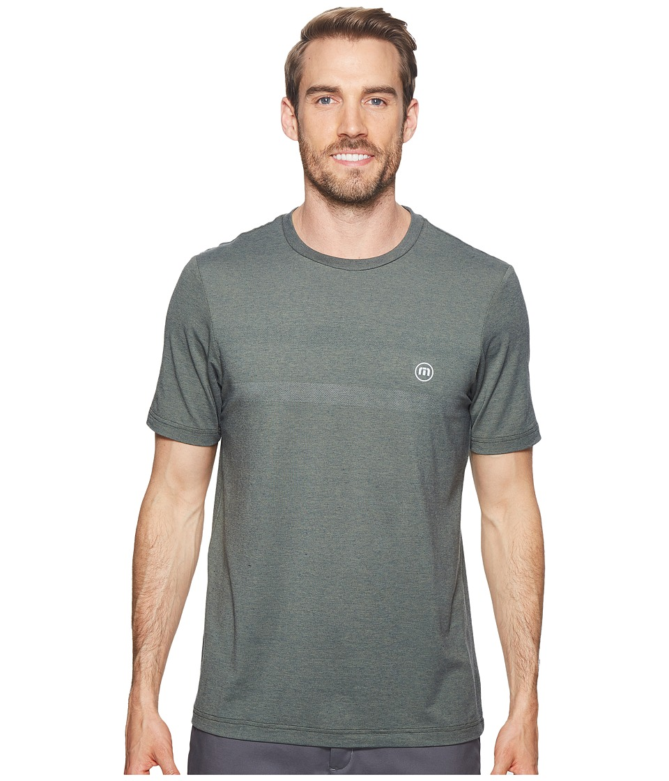 TravisMathew - Attack Fitness Crew (Agave Green/Blue Nights) Mens Sweater