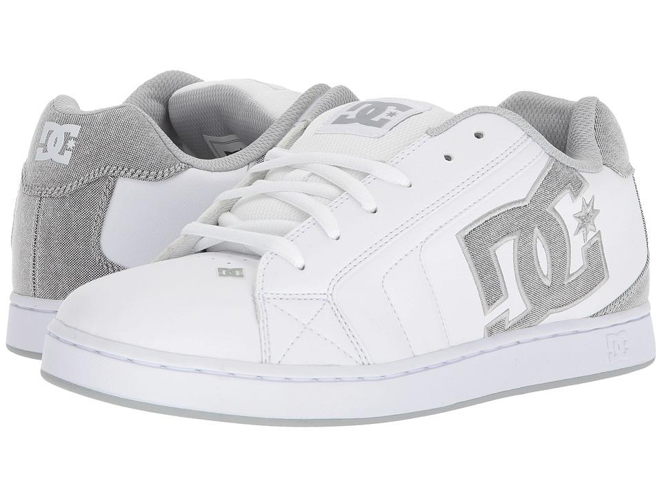 DC - Net SE (White/White/Light Grey) Mens Skate Shoes