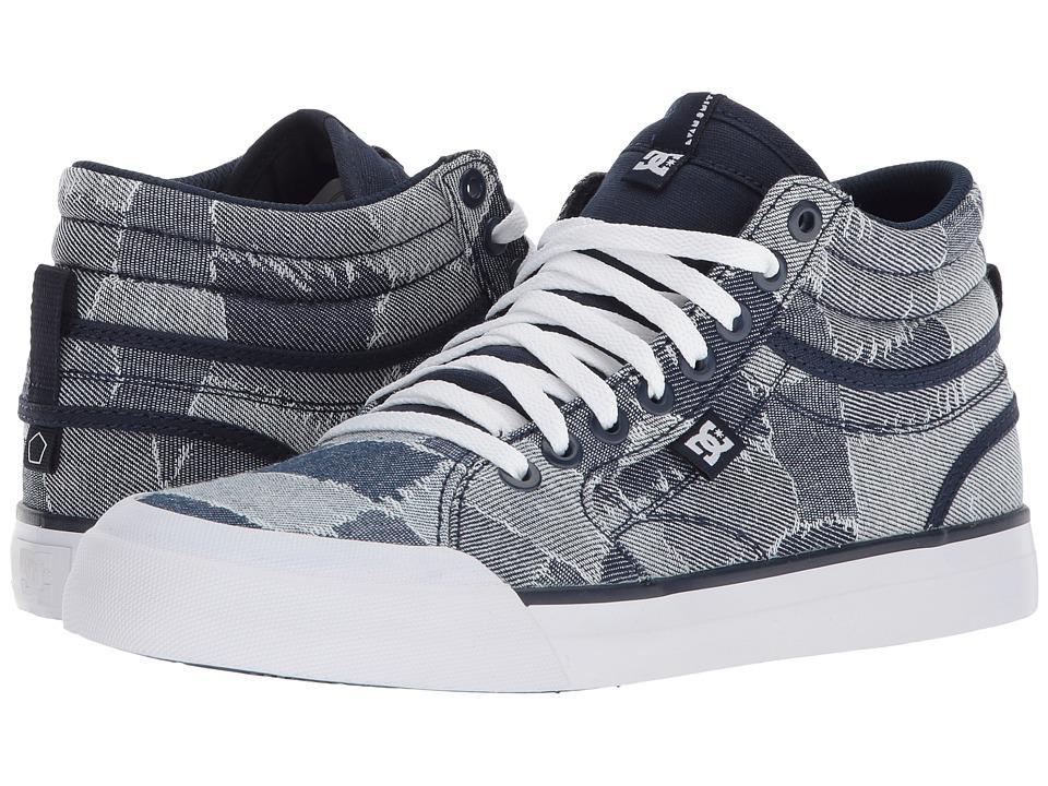 DC Evan Hi TX LE (Blue/Blue/White) Women's Skate Shoes