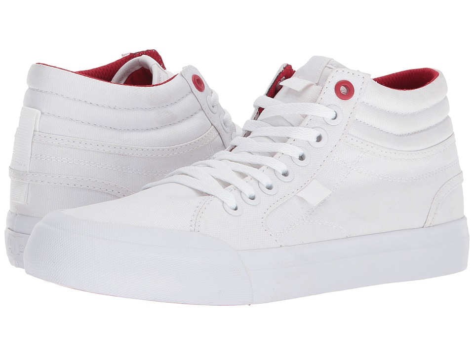 DC Evan Hi TX SE (White/White/True Red) Women