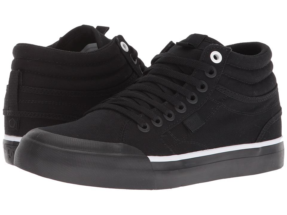 DC Evan Hi TX (Black/Black/White) Women's Shoes
