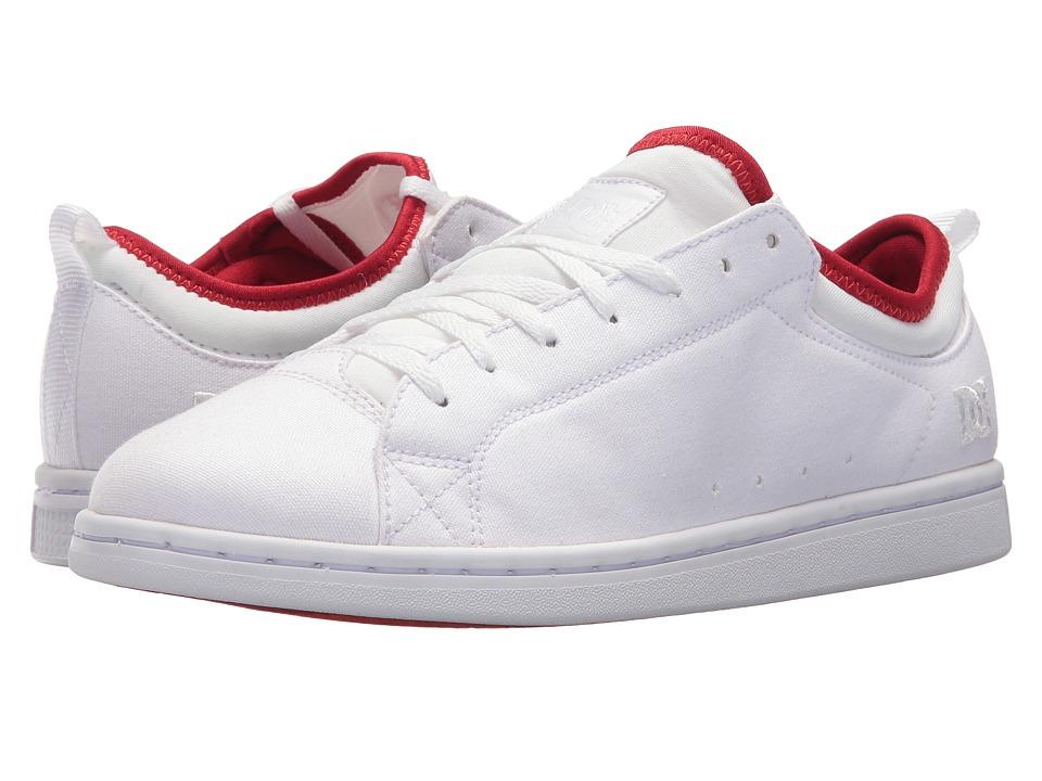 DC Magnolia TX SE (White/White/Athletic Red) Women's Skate Shoes
