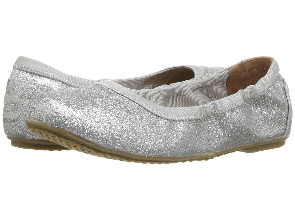 TOMS Kids - Ballet Flat (Little Kid/Big Kid) (Silver Iridescent Glimmer) Girls Shoes