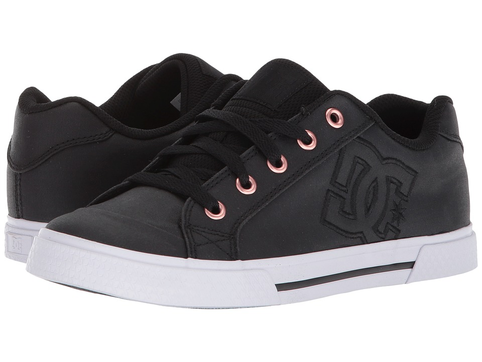 DC - Chelsea TX SE (Black/Black/White) Womens Skate Shoes