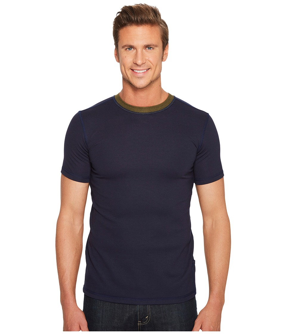 Independence Day Clothing Co - Crew Neck Ringer T-Shirt (Blue) T Shirt