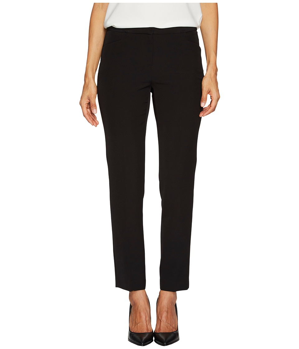 Vince Camuto Specialty Size - Petite Milano Twill L-Pocket Pants (Rich Black) Womens Casual Pants