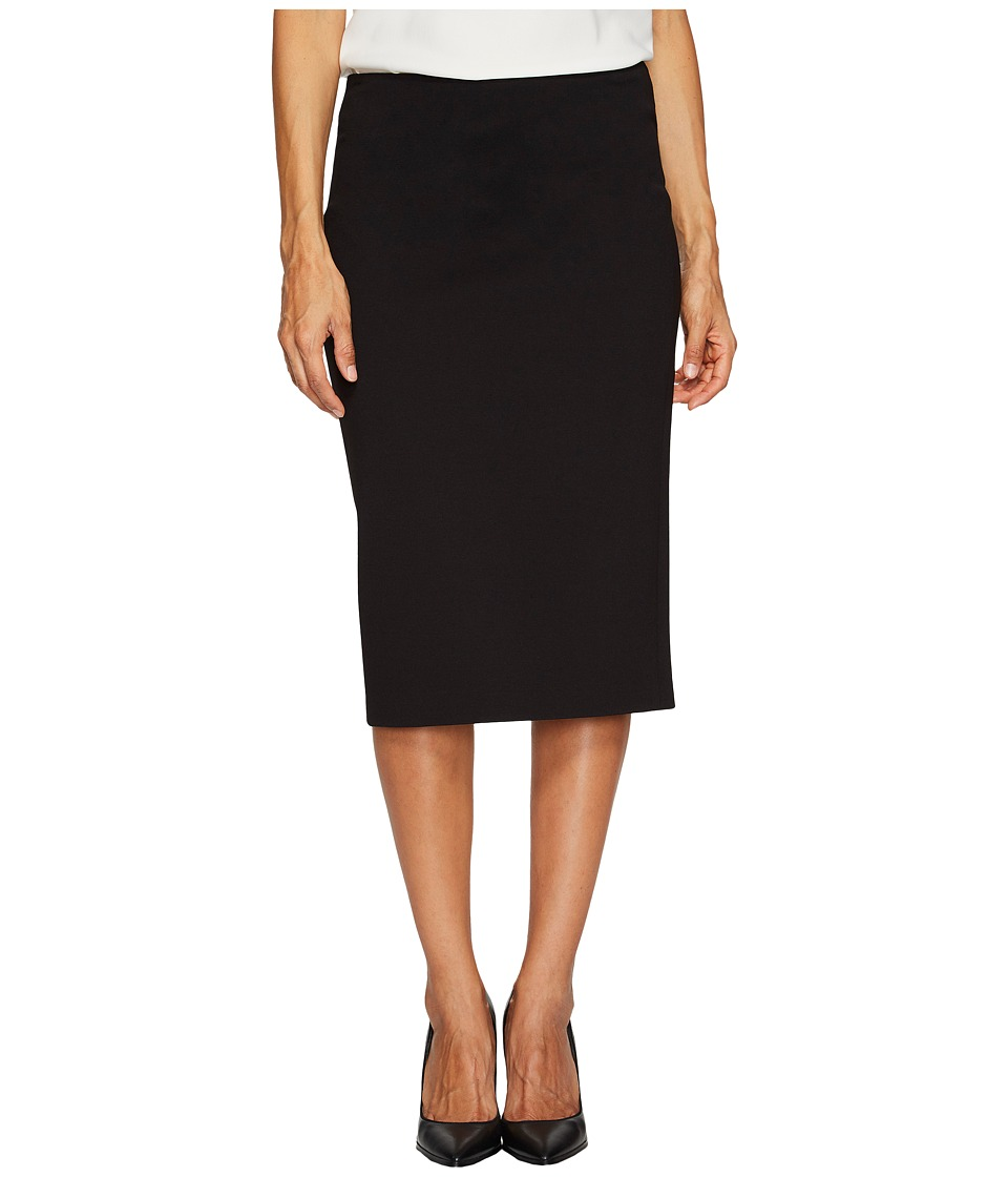 Vince Camuto Specialty Size - Petite Ponte Pencil Skirt (Rich Black) Womens Skirt