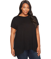 Vince Camuto Specialty Size - Plus Size Short Sleeved High-Low Hem Top