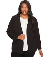 Vince Camuto Specialty Size - Plus Size Milano Twill Open Front Blazer