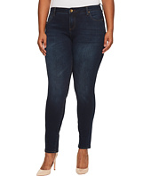 KUT from the Kloth - Plus Size Diana Skinny in Breezy/Dark Stone Base Wash