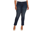 KUT from the Kloth Plus Size Catherine Boyfriend Five-Pocket in Carefulness/Euro Base Wash