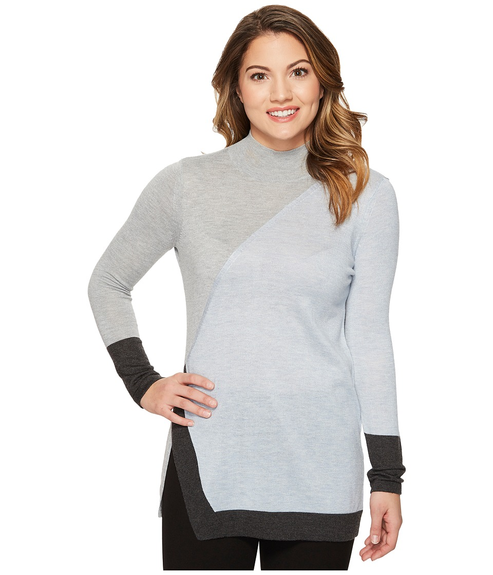 Vince Camuto Specialty Size - Petite Long Sleeve Color Bl...