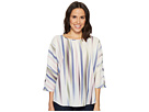 Vince Camuto Elbow Sleeve Colorful Peaks Center Front Seam Blouse